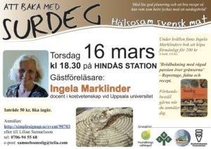 Föreläsning: Att baka med surdeg - Ingela Marklinder @ Hindås station