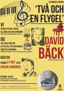 Två och en flygel - David Bäck med gäst: Håkan Lindgren