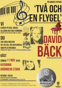 Två och en flygel - David Bäck med gäst: Katarina Grönberg Stark