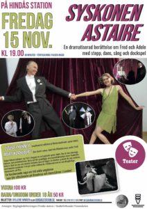 Teater: Syskonen Astaire @ Hindås stationshus